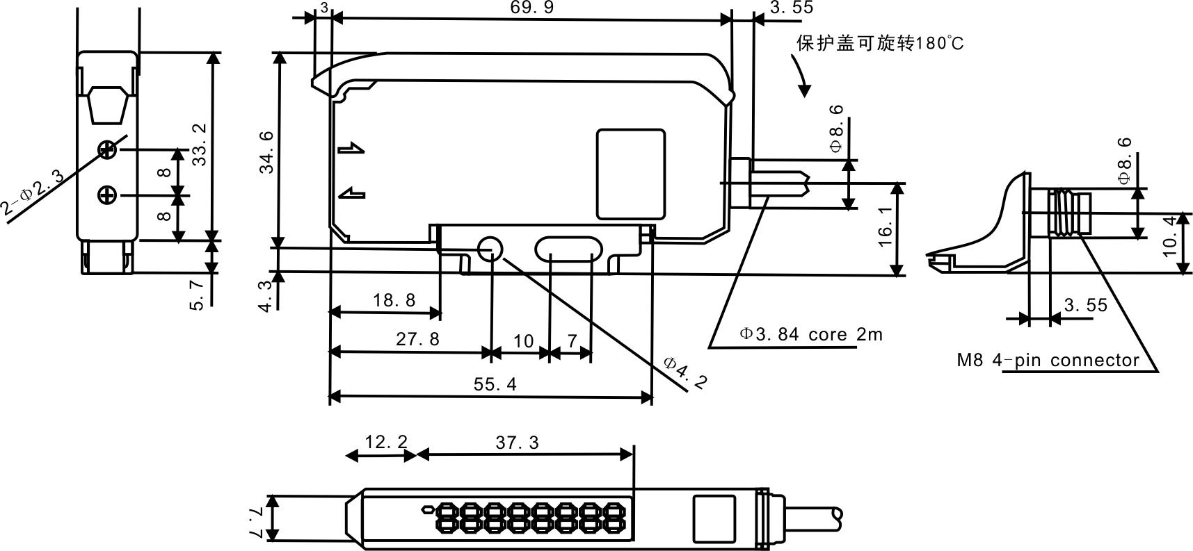光纤放大器-FF-301高性能双数显两路输出