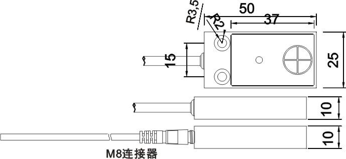 SN04-N/N2/P/P2通用接近开关尺寸图