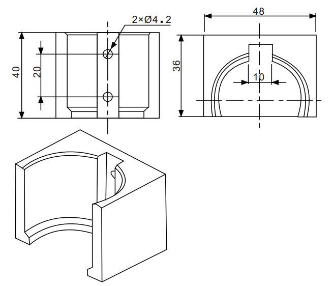 FGP37S压力传感器尺寸图