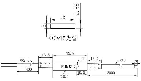 F3C-03WSQ0.8圆形接近开关尺寸图