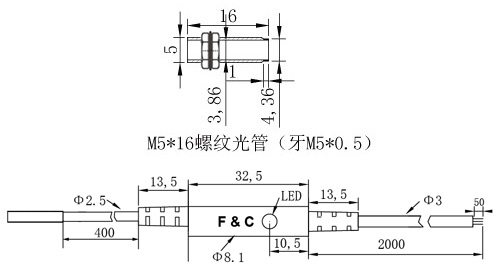 F3C-05WSM01圆形接近开关尺寸图