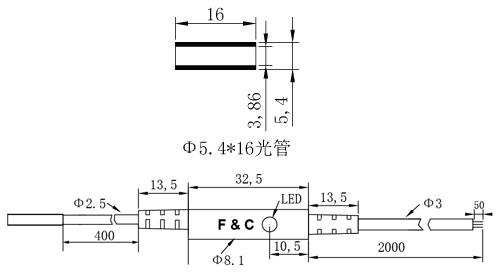 F3C-5.4WSQ1.2圆形接近开关尺寸图