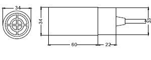 FSC3430P电容式接近开关尺寸图