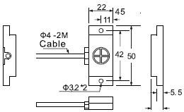 FSCN2210P电容式接近开关尺寸图